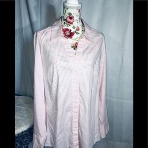 Lane Bryant Classic Collar Button Up Blouse Sz 24
